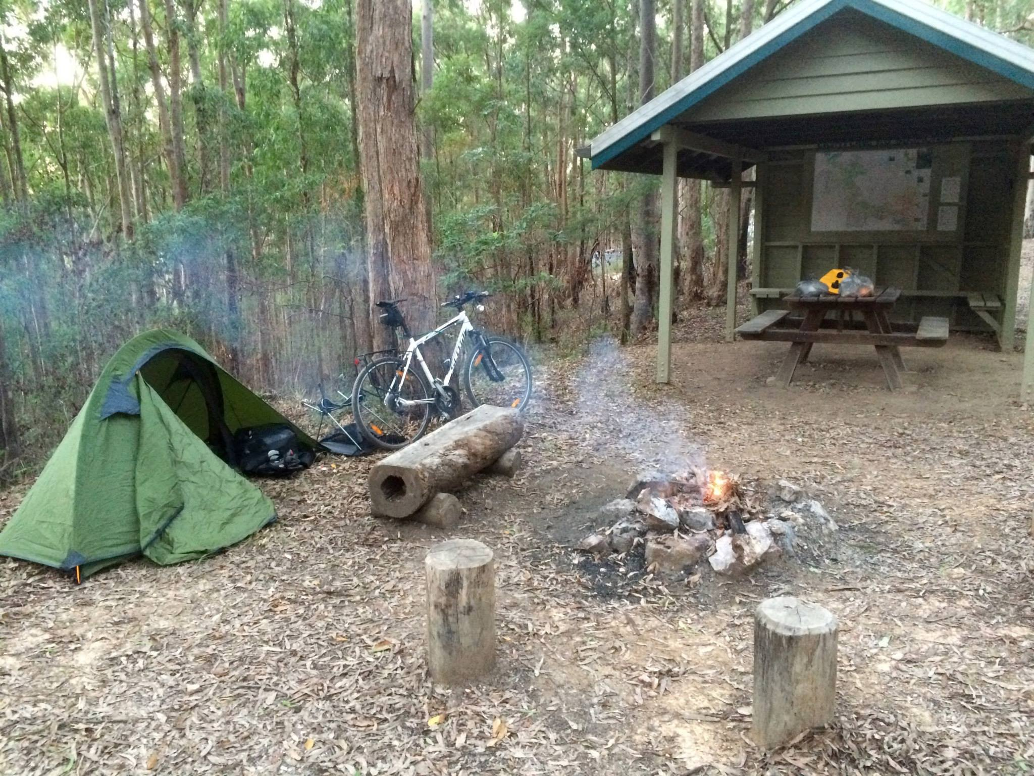 Tent Camping At Light Line Road
